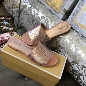 NWT Michael Kors Sequins Slide 7